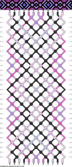Muster # 77794, Streicher: 12 Zeilen: 30 Farben: 5