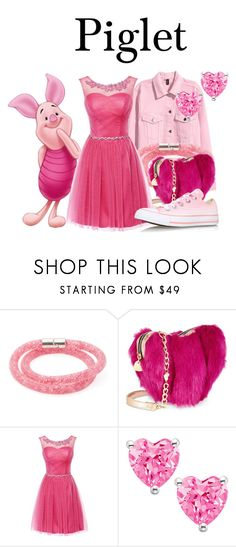 """""""Piglet"""" by megan-vanwinkle ❤ liked on Polyvore featuring Swarovski, Betsey Johnson and Converse"""