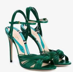 - Gucci Shoes - Latest and fashionable gucci shoes - GUCCI Leather Knot Sandals. Ankle Strap Sandals, Strappy Sandals, Leather Sandals, Shoes Sandals, Heeled Sandals, Toe Shoes, Green Sandals, Green Heels, Stilettos