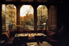 thingsilikethelookof:  untitled by you are your atman on Flickr. Via Flickr: Maybe the best table in Vienna.