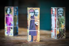 Sherlock Holmes and creator Artur Conan Doyle on WritersBlocks... The Detectives edition Wooden by redfoxink, $50.00