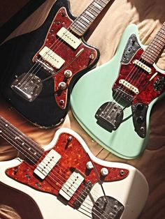 Black '66 Jazzmaster Custom Build Surf Green '62 Jaguar Custom Build Olympic White '63 Jazzmaster Custom Build