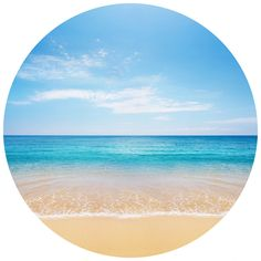 Beautiful Beach   Circle Wall Decals   WallsNeedLove  Put a frame around it and make it look like a window??