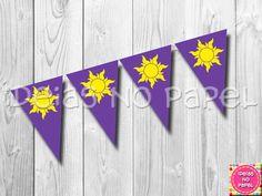 Bandeirolas - Enrolados (Rapunzel) | Ideias no Papel | 2DD053 - Elo7