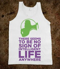 No Intelligent Life Anywhere (Buzz Lightyear Tank) - Movie Madness - Skreened T-shirts, Organic Shirts, Hoodies, Kids Tees, Baby One-Pieces and Tote Bags