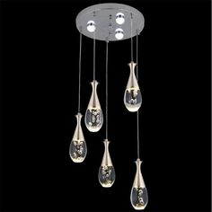 172.90$  Buy here - http://aliat0.worldwells.pw/go.php?t=32683503448 - Modern Brief Fashion Water Drop Design Acryl Led 34w Pendant Light For Dining Room Living Room Pendant Lamps AC 80-265V 1465