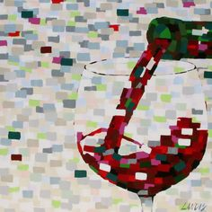 Cool painting of wine.