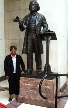 At the statue dedication for abolitionist/statesman Frederick Douglass, Emancipation Hall, US Capitol on June 19, 2013
