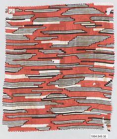 Textile Sample, Wiener Werkstatte  silk, 1910-28