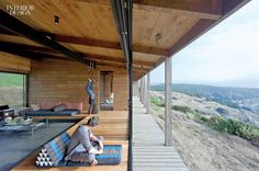 With stunning views of the Pacific Ocean, WMR Arquitectos designed a rustic weekend retreat for an avid Wind Surfer and Yoga Enthusiast, capturing something of a sea ranch vibe. Photography by Sergio Pirrone.
