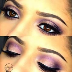 prom makeup for brown eyes and purple dress - Google Search