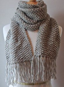 The Street Chic Seed Stitch Scarf is the perfect fashion-forward winter wearable. You can wear this free knitting pattern with a variety of outfits for an effortlessly stylish look and the tassels add a special touch. Kids Knitting Patterns, Knitting For Kids, Knitting For Beginners, Loom Patterns, Free Knitting, Crochet Patterns, Knitting Scarves, Scarf Patterns, Scarves To Knit