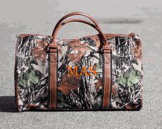 MONOGRAMMED MEN'S CAMO DUFFLE BAG #camo #duffle #bag #monograms