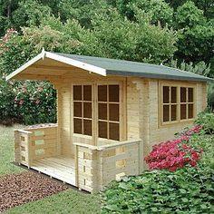 Fairwood Chinon Log Cabin including Veranda - 2 x 8ft now thats a boy playhouse!