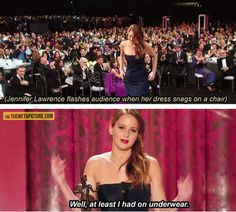 How Jennifer Lawrence deals with embarrassing situations...
