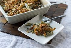 Mary's Best Green Bean Casserole - The classic recipe gets an update in this cheesy, scratch-made version of green bean casserole.