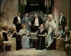 George Cukor with the cast of DINNER AT EIGHT