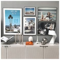 Keeping those holiday vibes alive! 🌴 Thank you for sharing your gallery wall with us.Designs:'Street Of Palm Springs'-poster. Desenio Posters, Girl Posters, Online Posters, West Indies, Sober, Vintage Travel, Sideboard, Creative Art, Painting & Drawing