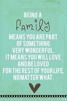 Our family has dwindled due to death & betrayal.. But I love who's left & will always cherish them.