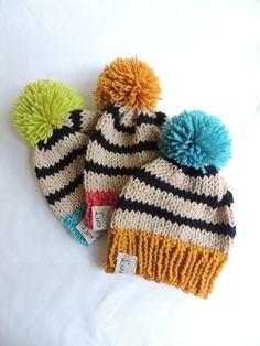 Baby Hats Knit Hats Luv Beanies Boy Hats Girl Hats Stocking Hats Boy Stocking hats Ski Hats Hat with Pom Pom Elf Hats Baby hats Crochet Hats For Boys, Baby Hats Knitting, Knitting For Kids, Loom Knitting, Knitting Projects, Knitted Hats, Knitting Patterns, Boy Crochet, Baby Boy Hats