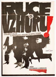 Wonderful movie poster for Italian crime drama Hold-Up, Instantánea de una corrupción designed by Naděžda Bláhová, 1975. #MoviePoster #Poster #Art #GraphicDesign #Illustration #PosterDesign #VintagePoster