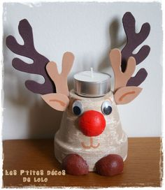 DIY bougeoir pour Noël : Robbie le renne: For Christmas Bizzar!!