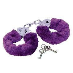 Erotic Fashion Police Handschellen mit lila Pelz, lila Metall justierbar, 1er-Pack (1 x 1 Stück)