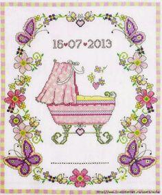 Ecco a voi una mini raccolta di schemi dedicati ai sacchetti,quadretti, sampler per festeggiare o ricordare il battesimo