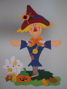 Fensterbild  lustige Vogelscheuche -Herbst- Dekoration - Tonkarton!