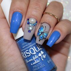 TUTORIAL: Como aplicar adesivo para unhas + joia de unha da Mulher Virtuosa Nail Jewelry, Nail Designs, Nail Art, Turquoise, My Style, Beauty, Manicures, Nail Jewels, Art Nails