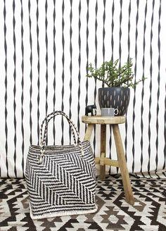 Basket made in South Africa by Design Afrika | www.designafrika.co.za Fabric by Skinny laMinx.