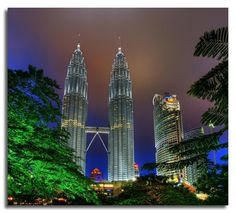Twin Tower of KualaLumpur...  one of it is made by s.korea, another is japan..