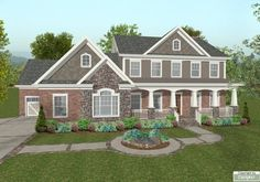 Beautiful #southern #houseplan featuring an in ground pool, home office, and much more! Check out more info at: http://houseplans.housingzone.com/plan/1034/