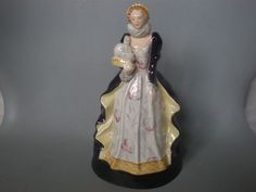 GOLDSCHEIDER WITH MYOTT SON & CO POTTERY FIGURINE OF QUEEN ELIZABETH 1 #Figurines