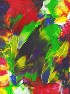 Summer Flowers Abstract Acrylic Painting by rostudios, $49.95