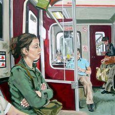 "TTC Study I, oil on canvas, 30""x30"""