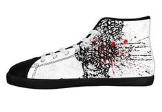 Men's Canvas Shoes Horrific Skull Rock Band Metallica Print High Top Sneakers