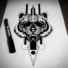 Blackwork Sketch From Otheser! #tiger #sketch #drawing #design #blackwork #dotwork #dotism