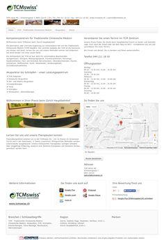 TCM swiss AG, Zürich, TCM - Traditionelle Chinesische Medizin, Chinesische Medizin, Akupunktur