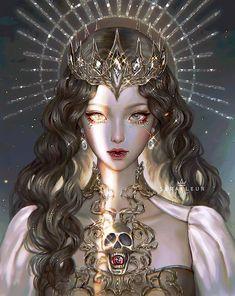 Beautiful Fantasy Art, Dark Fantasy Art, Fantasy Girl, Fantasy Artwork, Anime Art Fantasy, Digital Art Anime, Digital Art Fantasy, Digital Art Girl, Art Anime Fille