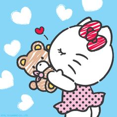 """Find and save images from the """"sanrio"""" collection by m. Hello Kitty Themes, Hello Kitty Cake, Hello Kitty Birthday, Hello Kitty Tattoos, Hello Kitty Pictures, Hello Kitty Wallpaper, Sanrio Characters, Sanrio Hello Kitty, Little Twin Stars"""