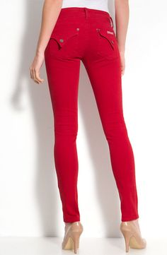 Fiery! Not sure if I'm brave enough for colored jeans...