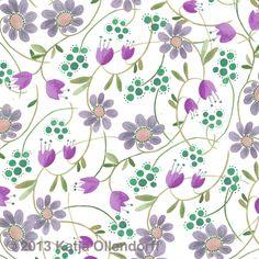 Katja Ollendorff floral pattern green purple