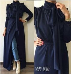 This Pin was discovered by Aya Islamic Fashion, Muslim Fashion, Modest Fashion, Indian Fashion Dresses, Abaya Fashion, Chic Outfits, Fashion Outfits, Fasion, Hijab Evening Dress