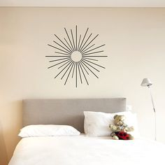 Starburst wall art decal