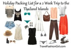 Holiday Packing List for a 2 Week Trip to the Thailand Islands