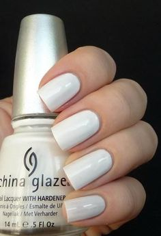 Beautiful White Nail Design #nails #manicure #nailart