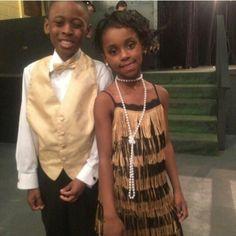 Harlem renaissance  Flower girl flapper and Dapper Usher