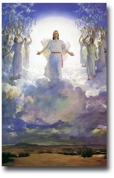 "Revelation 1:7-8 ""Look! He comes with the clouds of heaven. Everyone will see him—even those who pierced him. And all the nations of the world will mourn for him.Yes! Amen! ""I am the Alpha and the Omega—the beginning and the end,"" says the Lord God. ""I am the one who is, who always was, and who is still to come—the Almighty One.""  (Artist: Harry Anderson)"
