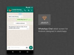 WhatsApp Chat Detail with .sketch source file by Gayatri